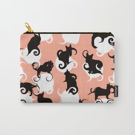 Cat swirls pink Carry-All Pouch