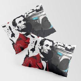 ABRAHAM LINCOLN INK SPLASH RED MAKE MUSIC NOT WAR Pillow Sham