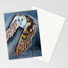 Night Owl in flight Stationery Cards