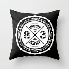Motivate & Inspire (White) Throw Pillow