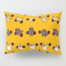 Olympic Lifting Cat Pillow Sham