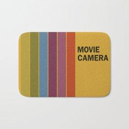 Retro Movie Camera Color Palette Bath Mat