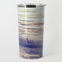 Agricultural Field Stubble in Freshly Fallen Snow Travel Mug