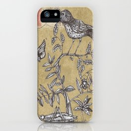 Vintage Birds and Bugs iPhone Case