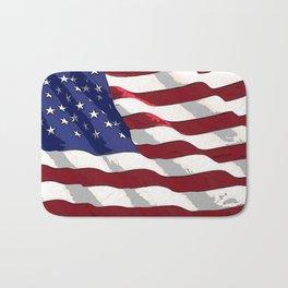Fancy Flag:  USA 3 Bath Mat