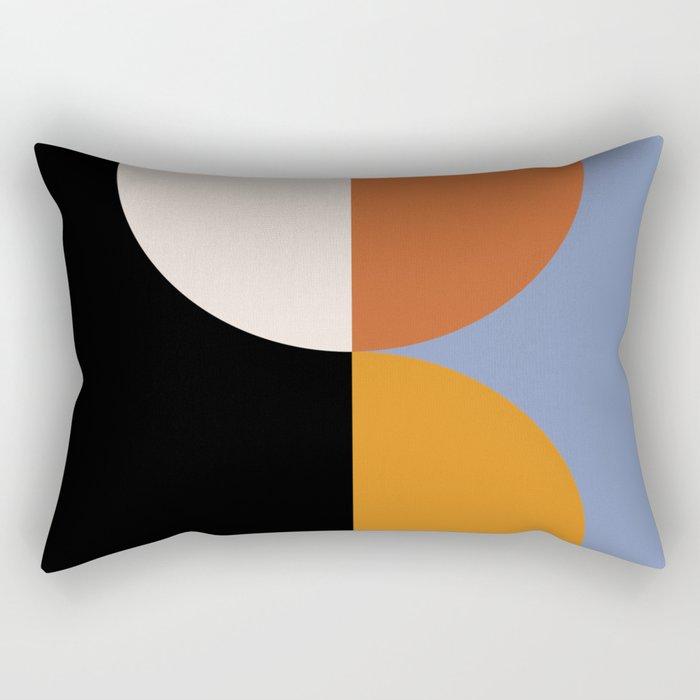 Geometric Circles Abstract III Rectangular Pillow