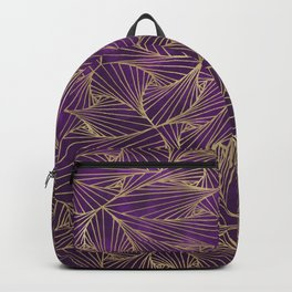 Tangles Violet and Gold Backpack