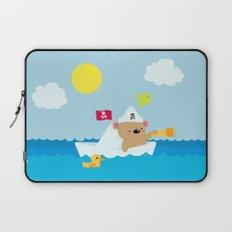 Bear in paper boat Laptop Sleeve