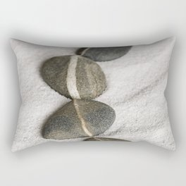 zen pebble line Rectangular Pillow