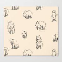 bears Canvas Prints featuring Bears by leah reena goren