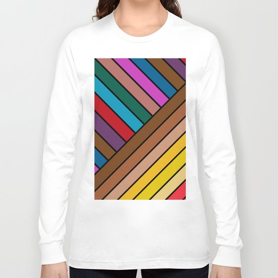Colorful Lines Long Sleeve T-shirt