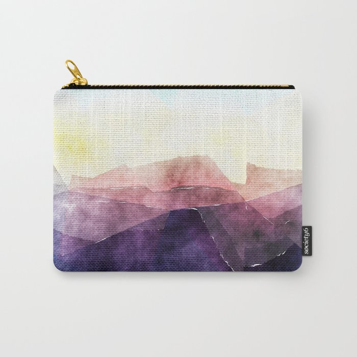 In the sea- abstract watercolor - Original triangle pattern Carry-All Pouch