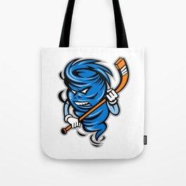 Tornado Ice Hockey Player Mascot Tote Bag