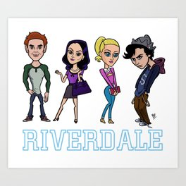Riverdale Line Up Art Print
