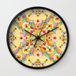 Pastel Mandala Rainbow Wall Clock