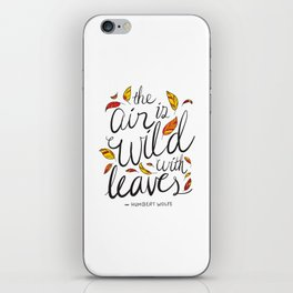 Wild With Leaves iPhone Skin