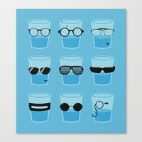 glasses Canvas Prints featuring Glasses by Zach Terrell