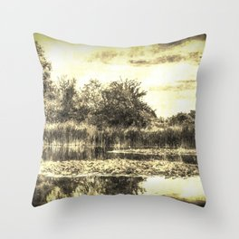 Lilly Pond Vintage Throw Pillow