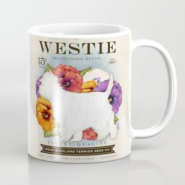 Westie West Highland Terrier seed company dog art illustration by Stephen Fowler Coffee Mug