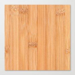 Cool elegant light brown bamboo wood print Canvas Print