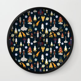 Rockets Wall Clock