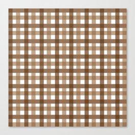 Brown Picnic Cloth Pattern Canvas Print