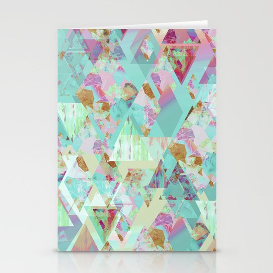 Candy Geometric  Stationery Cards