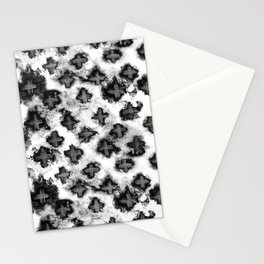 Black and White Watercolor Crosses Stationery Cards
