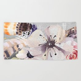 Flowers bouquet #55 Beach Towel