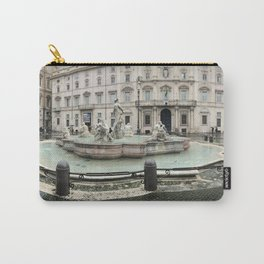 3 legged man in Piazza Navona Rome Italy Carry-All Pouch