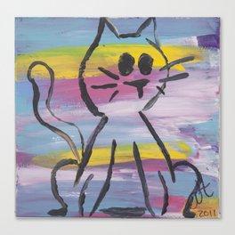 Rainbow Kitty Canvas Print
