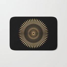 SPIKE - gold black mandala Bath Mat