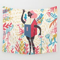 karl Wall Tapestries featuring Haus by Karl James Mountford
