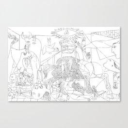 Picasso Line Art - Guernica Canvas Print
