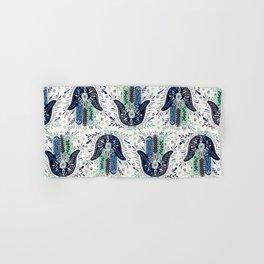 Hamsa Hand – Navy Palette Hand & Bath Towel