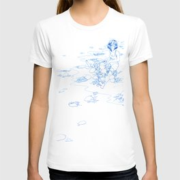 Jellyfish Beach (line) T-shirt
