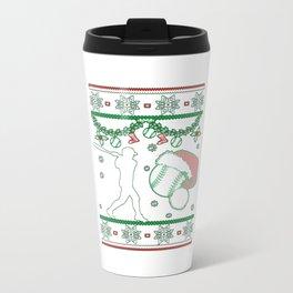 Softball Christmas Travel Mug