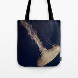 Vintage Retro Pop Art Jellyfish Aqua Ocean Beach Art Under the Sea Underwater Photography Print Tote Bag