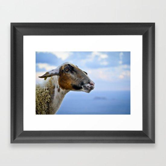 Goating Filfla Framed Art Print