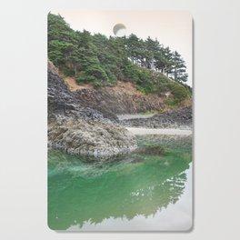 Oregon Coast Tide Pool Green Glowing Forest Coastal Cliff Rocky Landscape Beach Northwest Volcano Cutting Board
