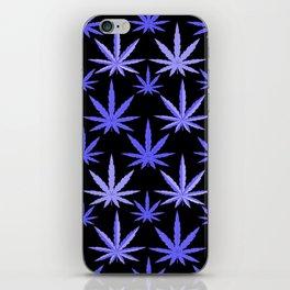 Marijuana Violet Blue Weed iPhone Skin