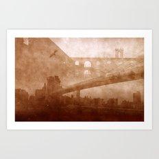 Vintage Bridge 2x Art Print