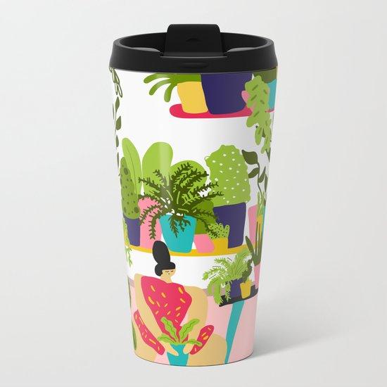 Love Plants Metal Travel Mug