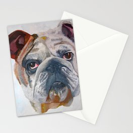 American Bulldog Portrait: Yale Mascot Stationery Cards
