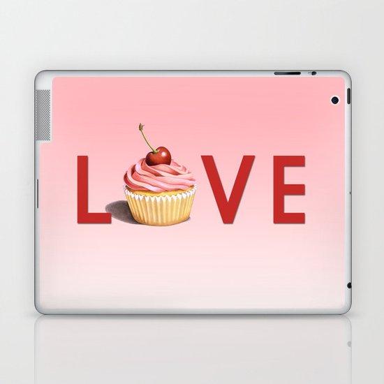 Perfect Pink Cupcake LOVE Laptop & iPad Skin