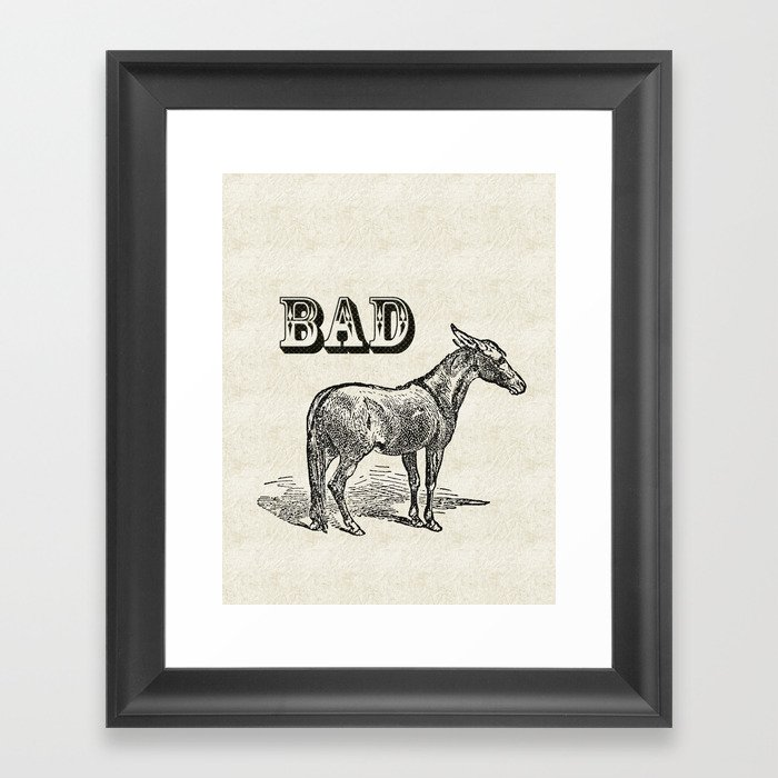 Bad Ass Framed Art Print