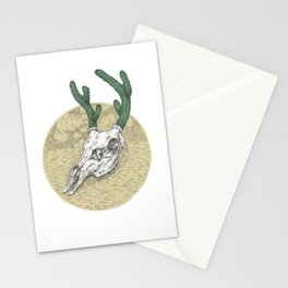 Deer Cactus Stationery Cards