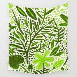 Garden – Lime Green Palette Wall Tapestry