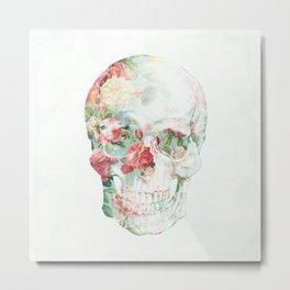 Skull Bouquet Metal Print