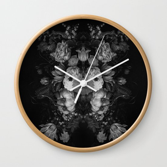 Botanical Darkness Wall Clock